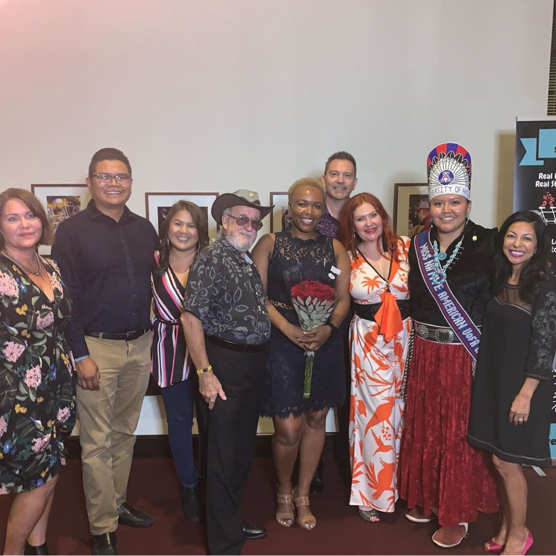 The Storytellers, myself and Miss Native America U of A