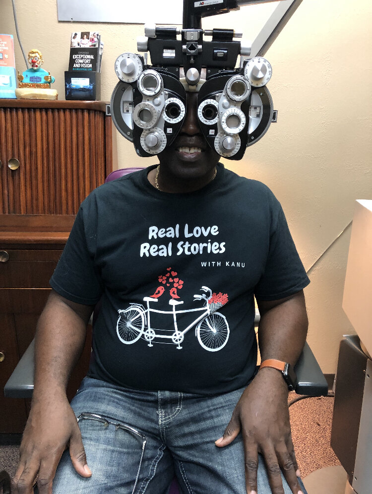 He wore it to his eye doctor appointment in OKC, OK