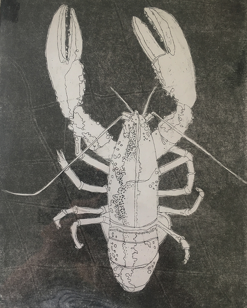 Black and White Lobster SOLD