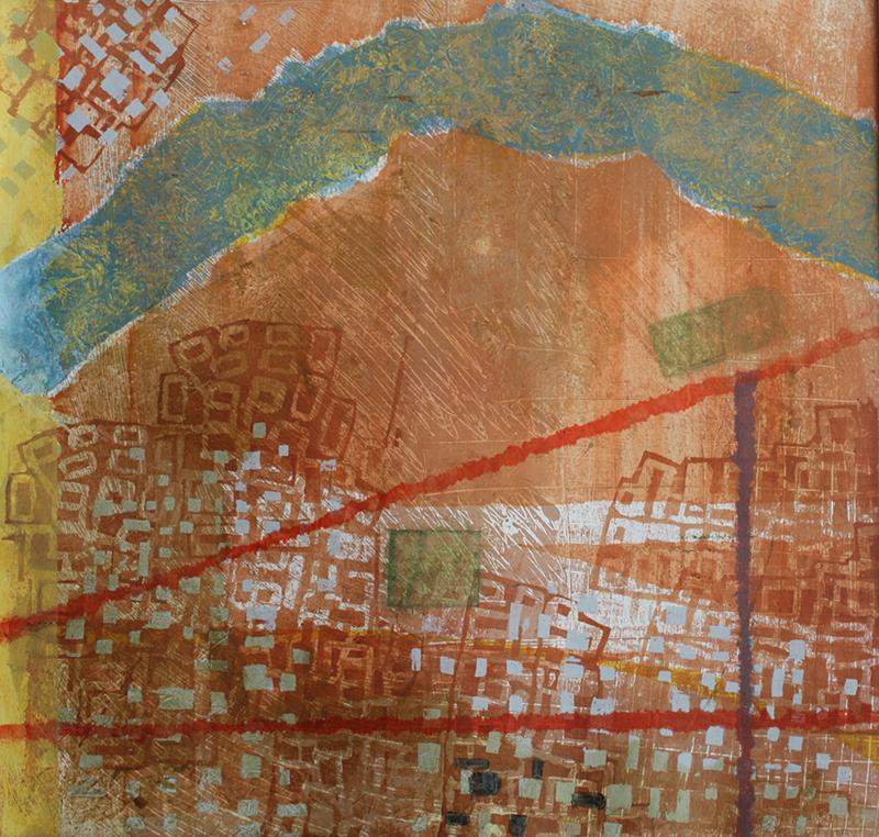 River One A Giclee Print 80 x 80 cm