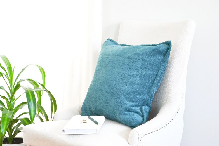 Feel into the texture of the cushion. How does it make you feel? Write it down