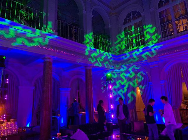 "Its Lit! • • • EAV designed this immersive ""club style"" lighting package for an event at a private residence.  #EventProduction #SF #LightingDesign"