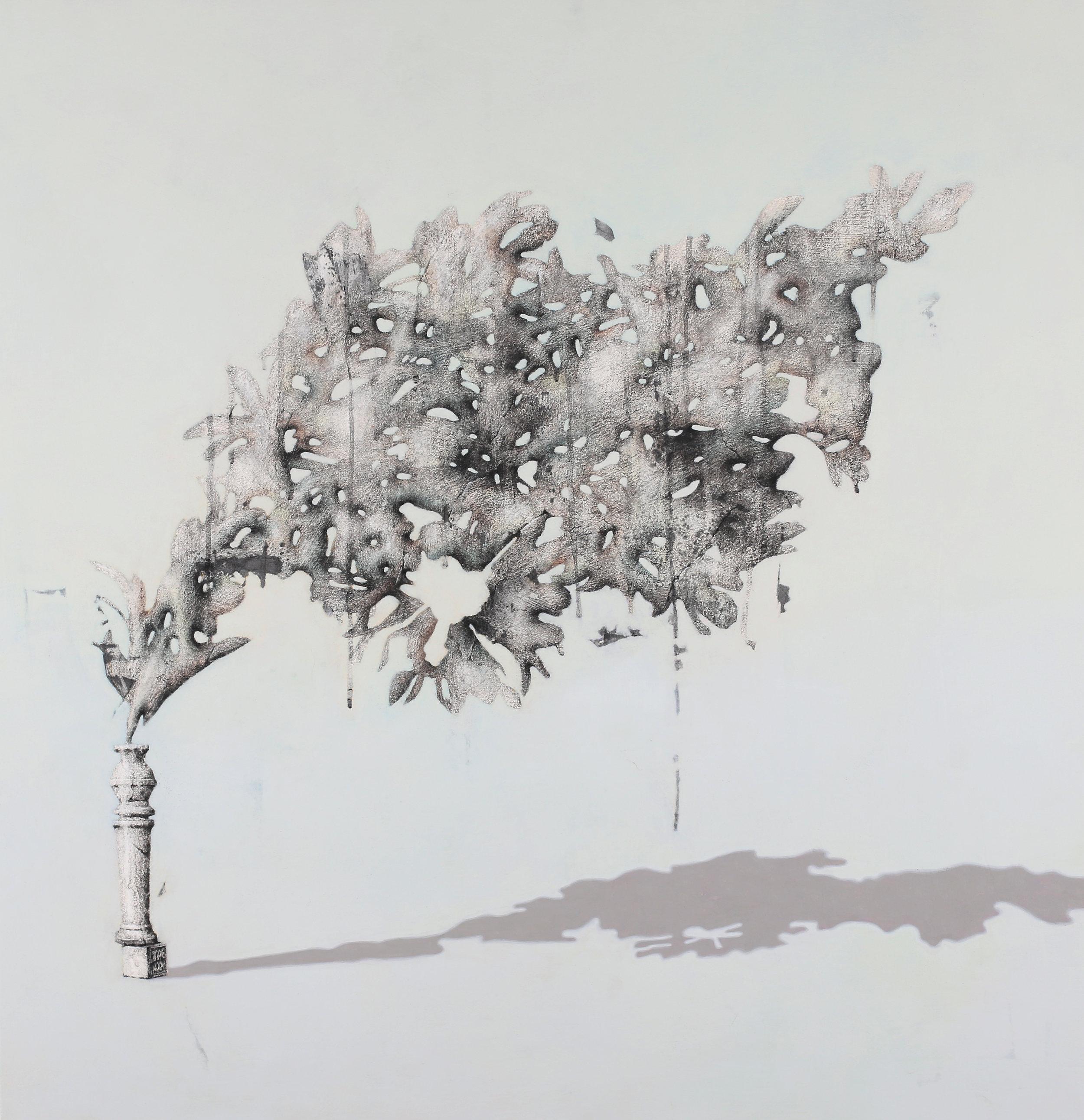 Grafting No.2     Fresco Technique, 90x86cm,2017