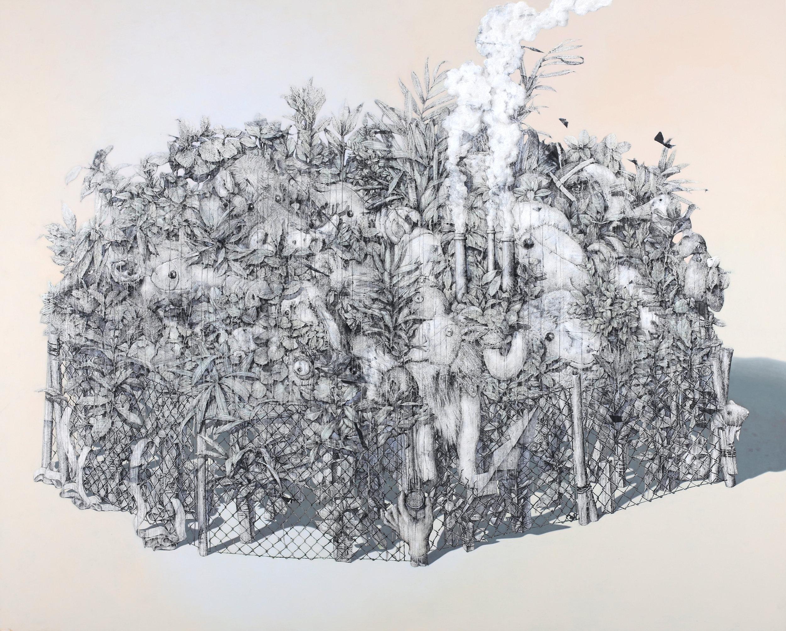 The Animal Kingdom / 동물의 왕국    Fresco Technique, 183x230cm, 2017