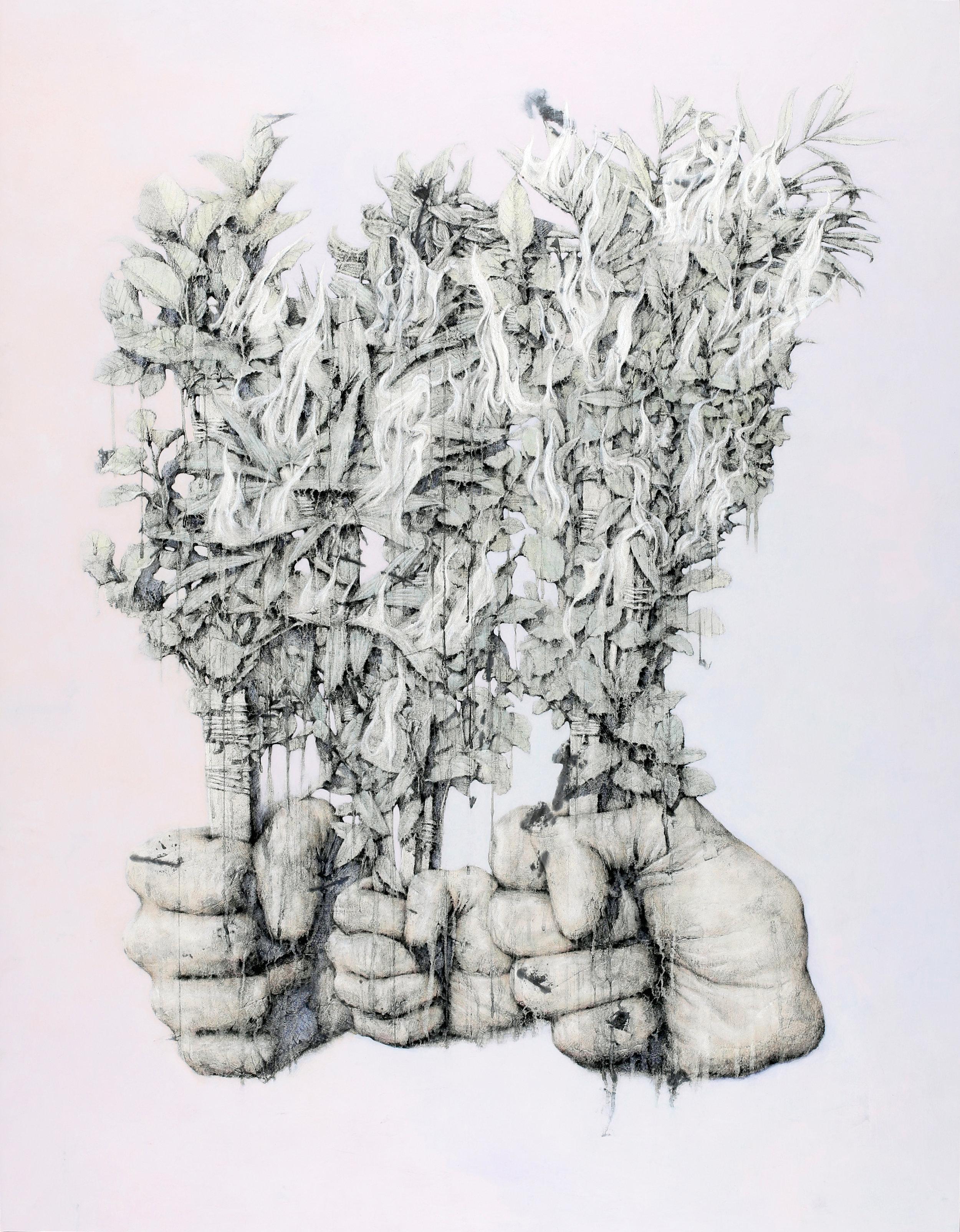 Gardening No.2    Fresco Technique, 182x140cm, 2017