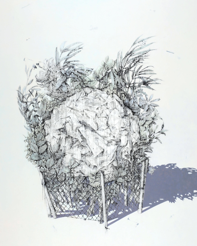 Gardening No.4    Fresco Technique, 182x140cm, 2017