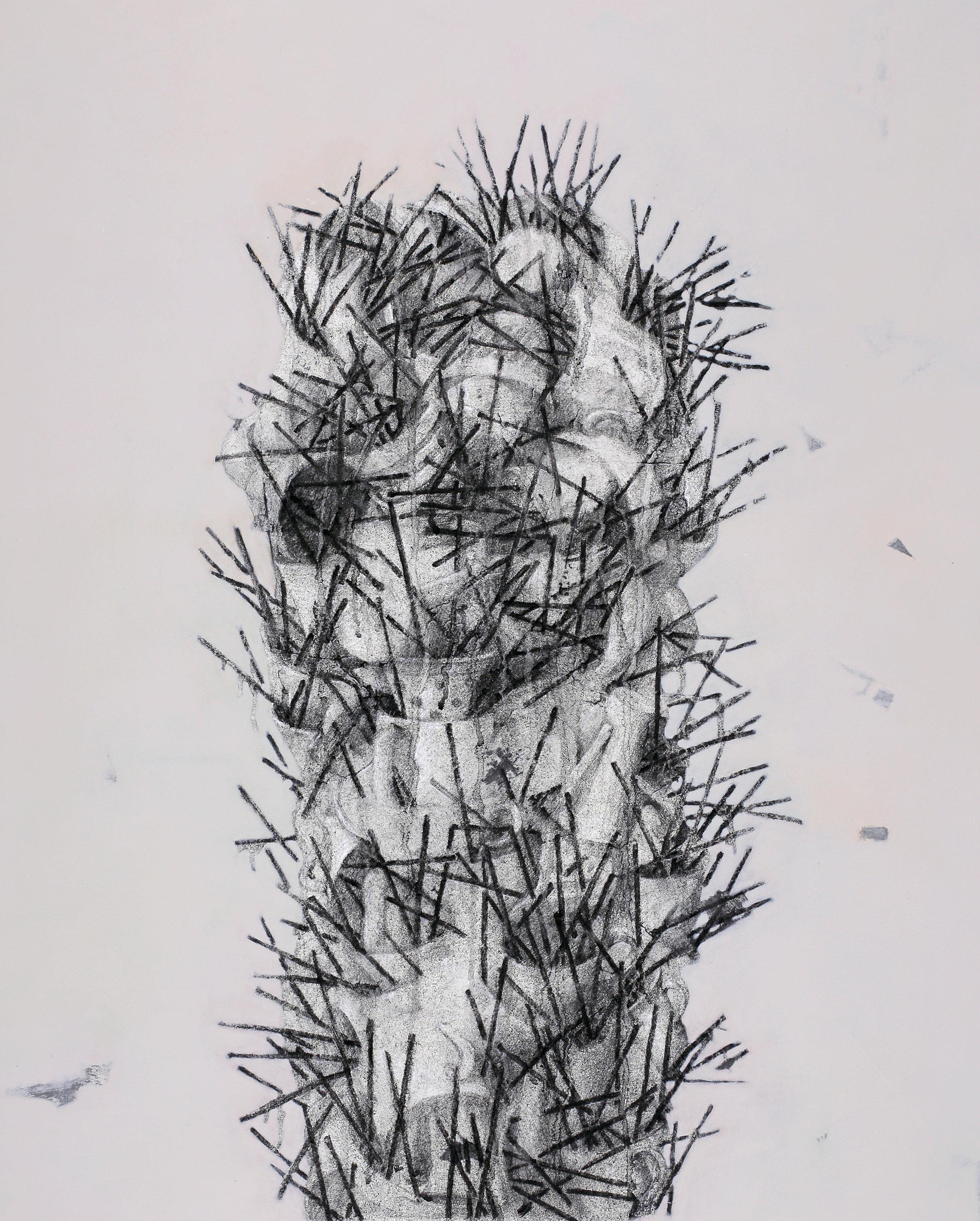 Cactus /  선인장   Fresco Technique, 94x74cm, 2018