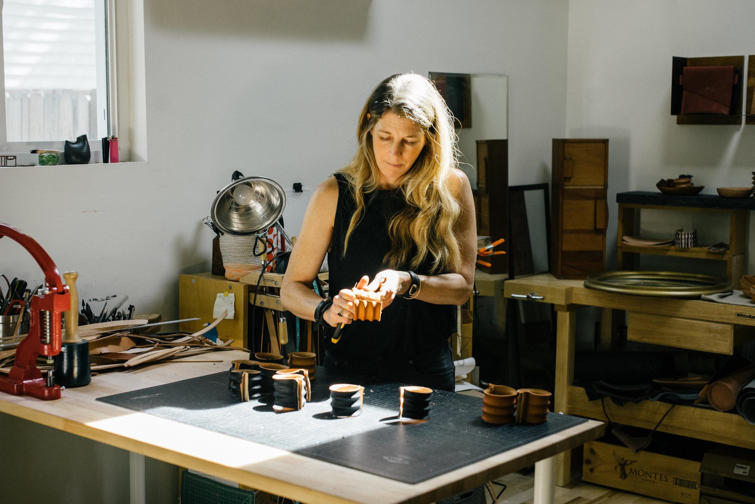 Alexa Allen   Leathersmith in Boulder, CO.  Learn more .
