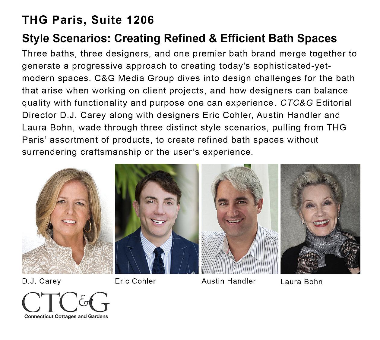 Laura Bohn: October 16, 12PM - 1PM, THG Paris, Suite 1206