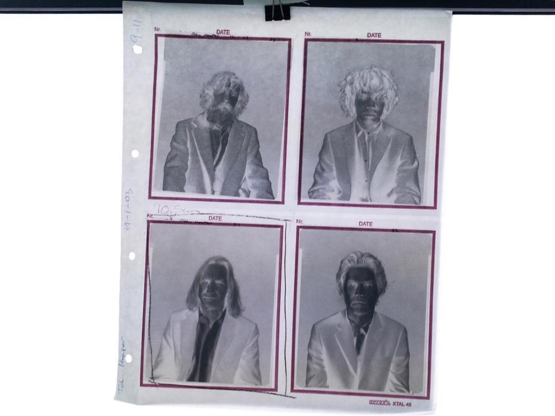 Rescanning old 5x4 negs for my new website. Nice to see these younger faces.  .  .  .  .  .  #filmsnotdead #kodak #trix #5x4 #sinar #p2 #kodaktrix #fashionportrait #fashion #portrait #instaphoto #instagood #photooftheday #instafilm #shootfilm #instaportrait #blackandwhite  (at Margaret Howell)