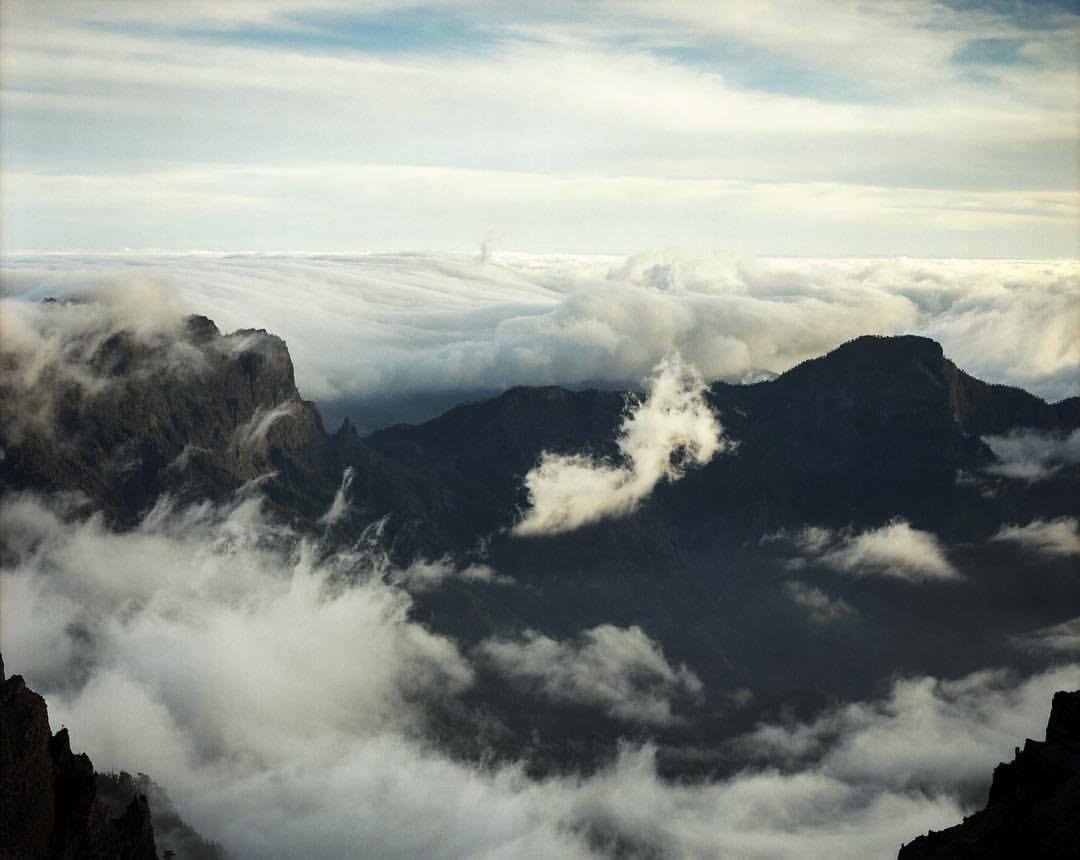 7 years ago on the edge of the caldera, La Palma.  .  .  .  .  .  #caldera #volcano #shootfilm #mamiyarz67 #mamiya #kodak #portra #mountains #travel #wanderlust #abovetheclouds #filmsnotdead #lapalma @_super_collider @chris_hatherill @mamiyafeatures @kodak @kodakprofessional  (at Roque de los Muchachos Observatory)