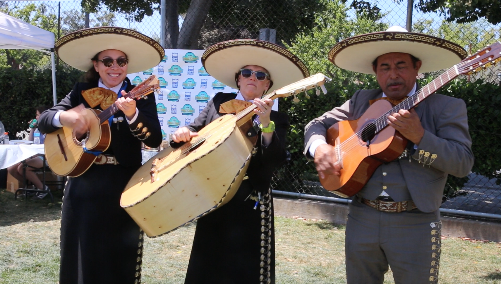 Mariachi Singers At Lunch  - During the lunch break, a taco vendor provided food. There were also mariachi singers that came and performed for the players. After lunch, the silver and gold brackets began. The top 8 teams made it into the gold bracket, meanwhile everyone else was in the silver one. In both brackets, if you lost a game, you were out. The games were long and intense, but in the end, a team from Colorado won it all. Joss Rogers made all the trophies. He made first, second, and third place award for both brackets. He also helped with the participation awards, which were little kubb pieces.  The tournament was a huge success. I played on a team and it was really fun. Kubb is a strategic game that more people should play!