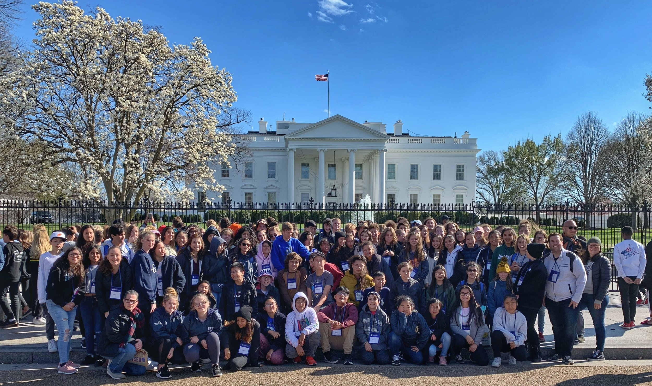 All the eighth graders at the White House!