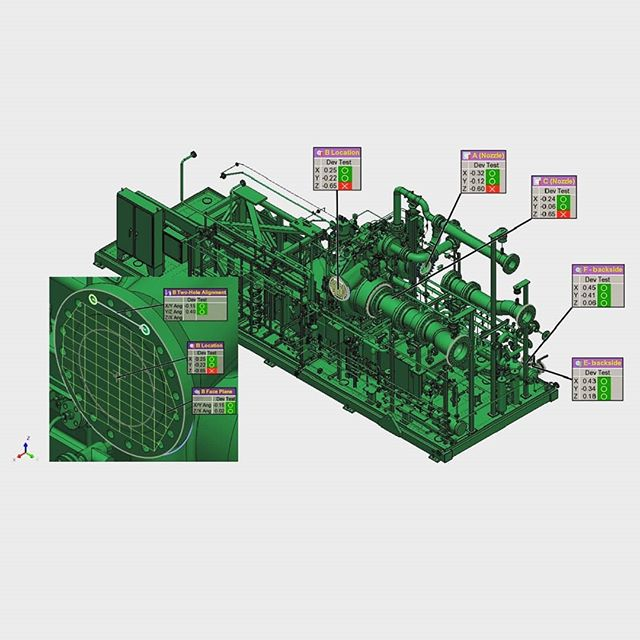 Our Vitrual Build & Bolt service reduces installation time and eliminates field-fits on your modular builds. Find out more at the link in our bio. . . . . . . . . . . #lng #alignment #PolyWorks #lasertracker #metrology #faro #leica #api #precision #fabrication #3dscanning #naturalgas #dimensionalservices #modular