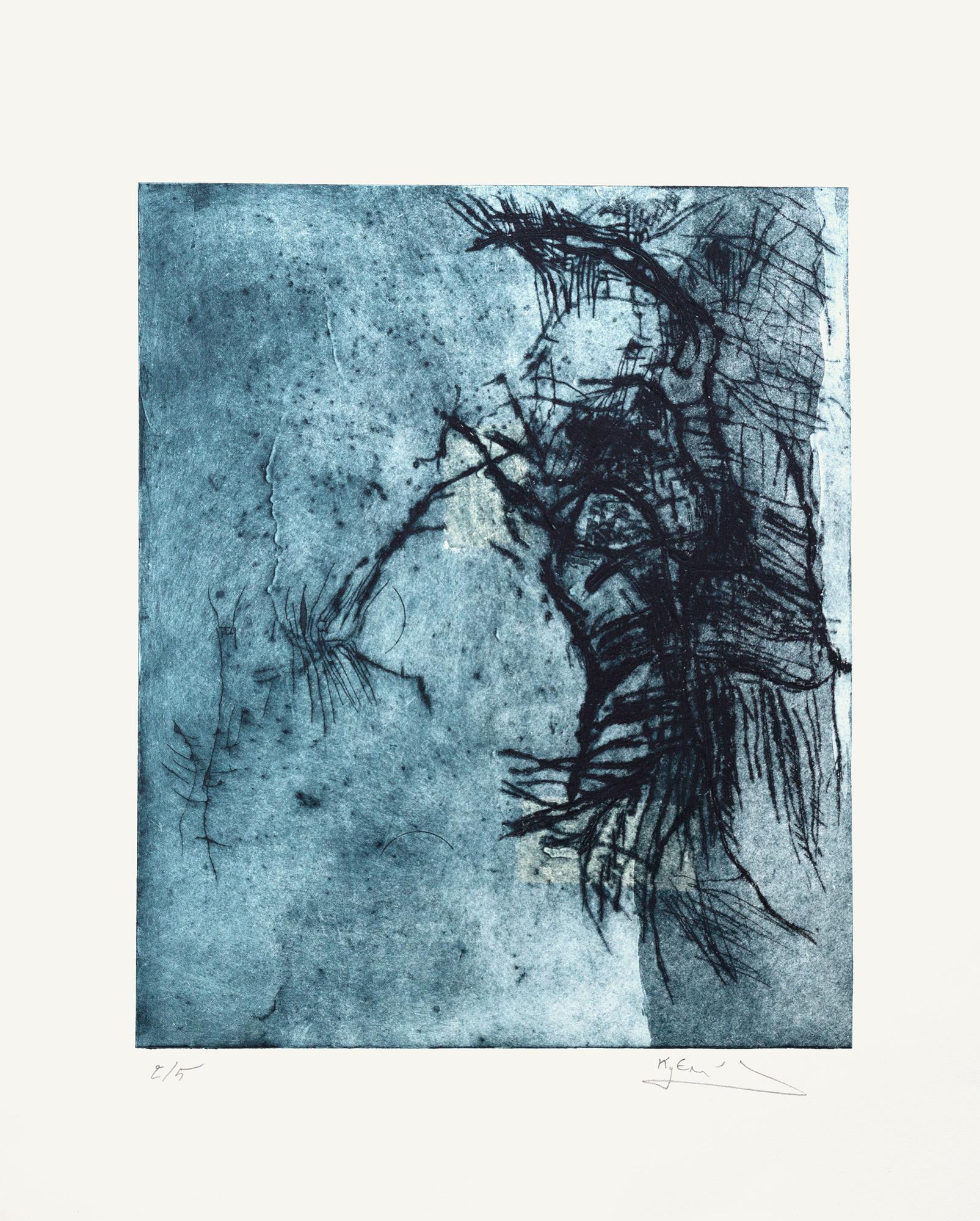 Sans titre, 2015 Pointe sèche et carborundum, 52x42 cm