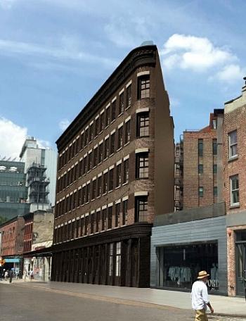 55 Gansevoort Street, rendering by Backen Gillam Kroeger.