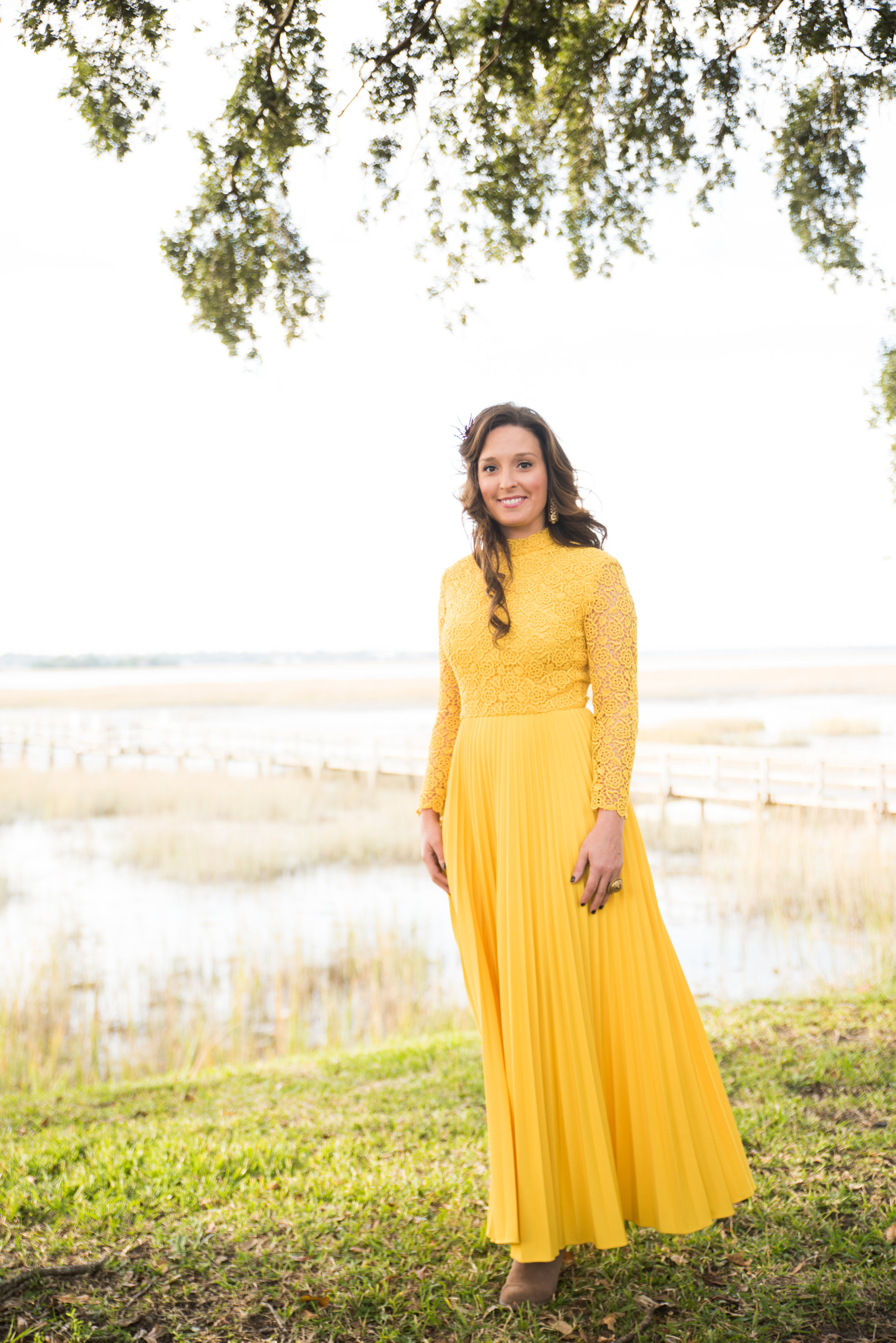 Southern Hair - Beach Waves  Hair & Makeup - Danna Breaux with Best Day Ever Bridal  Dress: Classically Curated (Not listed for sale yet)  Photography - Katie Charlotte Photography