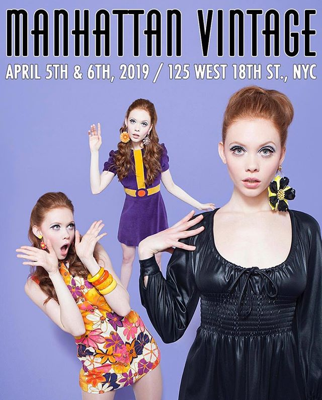 So ready for April!!! Come see us April 5-6th @thevintageshow! So many amazing vendors and customers! 🌸 🌺  #vintageclothing #vintage #nyc #manhattanvintageshow