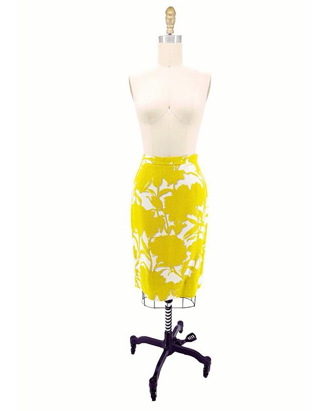 "Spring has sprung, brighten up your wardrobe with some Mellow Yellow 🌞🌼 . . Vintage Prada Skirt - XS (24"" waist)  1950's Two Tone Embroidered Skirt - S (26"" waist) . . #vintageclothing #vintagefashion #yellowskirts #springfashion #prada #sustainablefashion #shoponline"