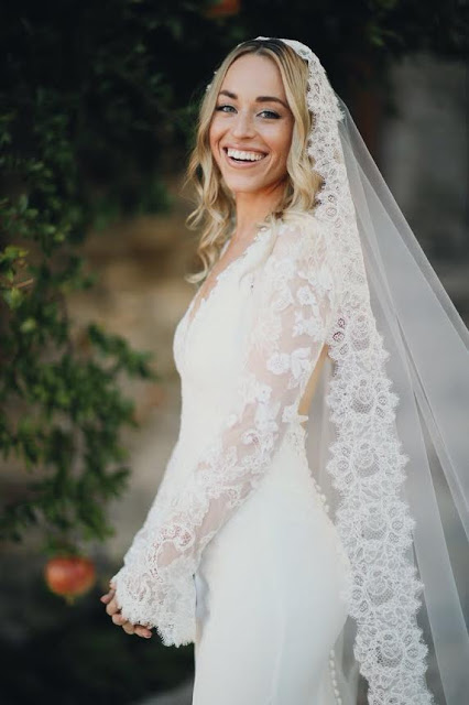 The Bride wore custom Katie Fong Bridal. Image by Monro Photography.