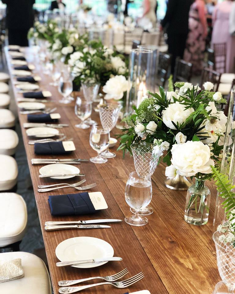 Stunning table settings for the evening.