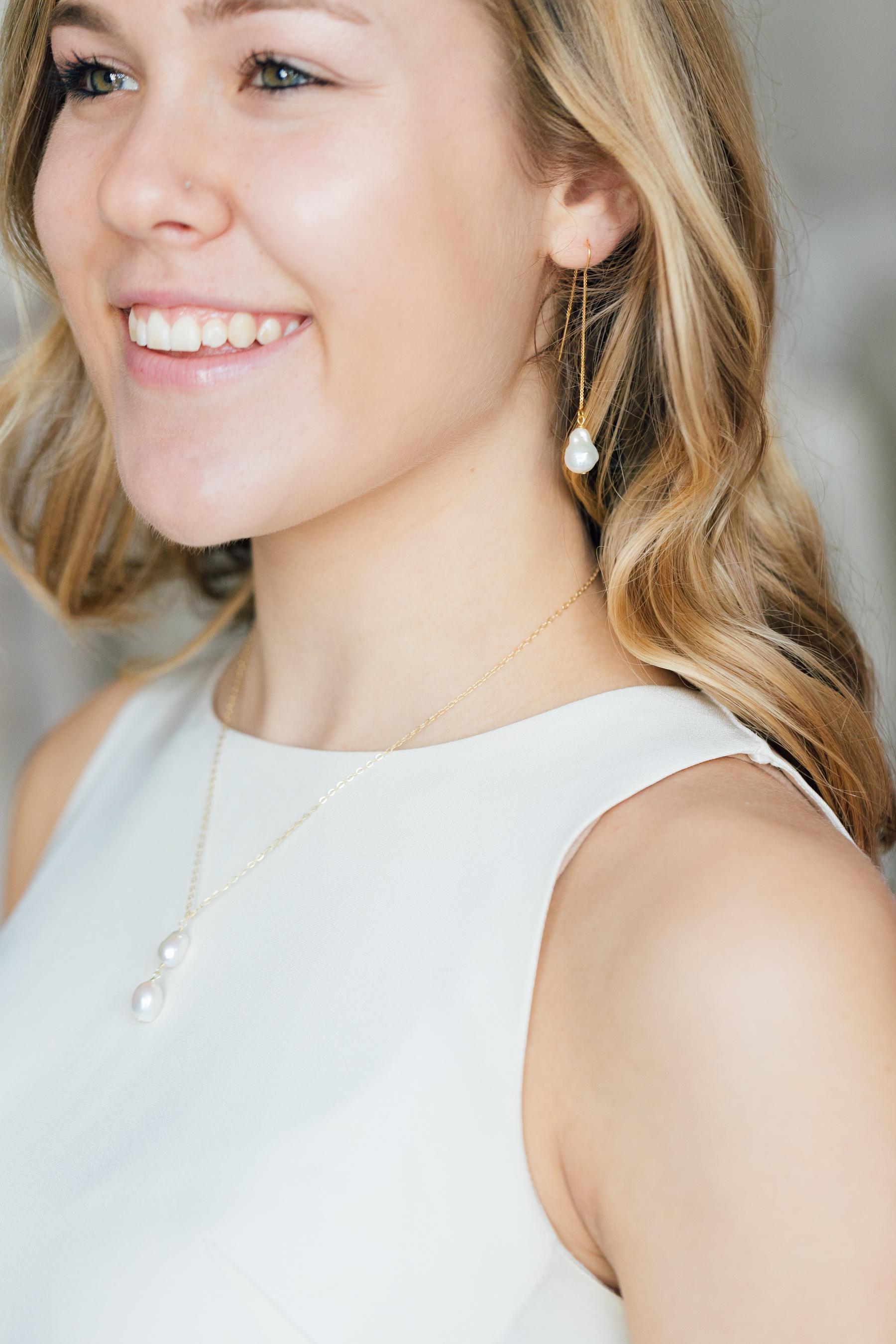 Loving this Eff.y.Bee pairing! Baroque pearls are so simple, yet so elegant
