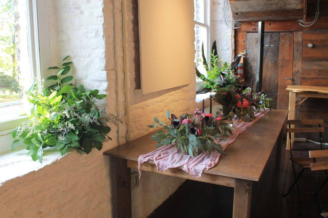 Pictured: Saint Patrick's Museum, our Harvest table and floral by Trinity's Florals.