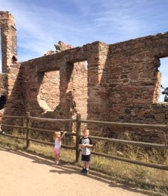 My kiddos exploring some old ruins near our home.