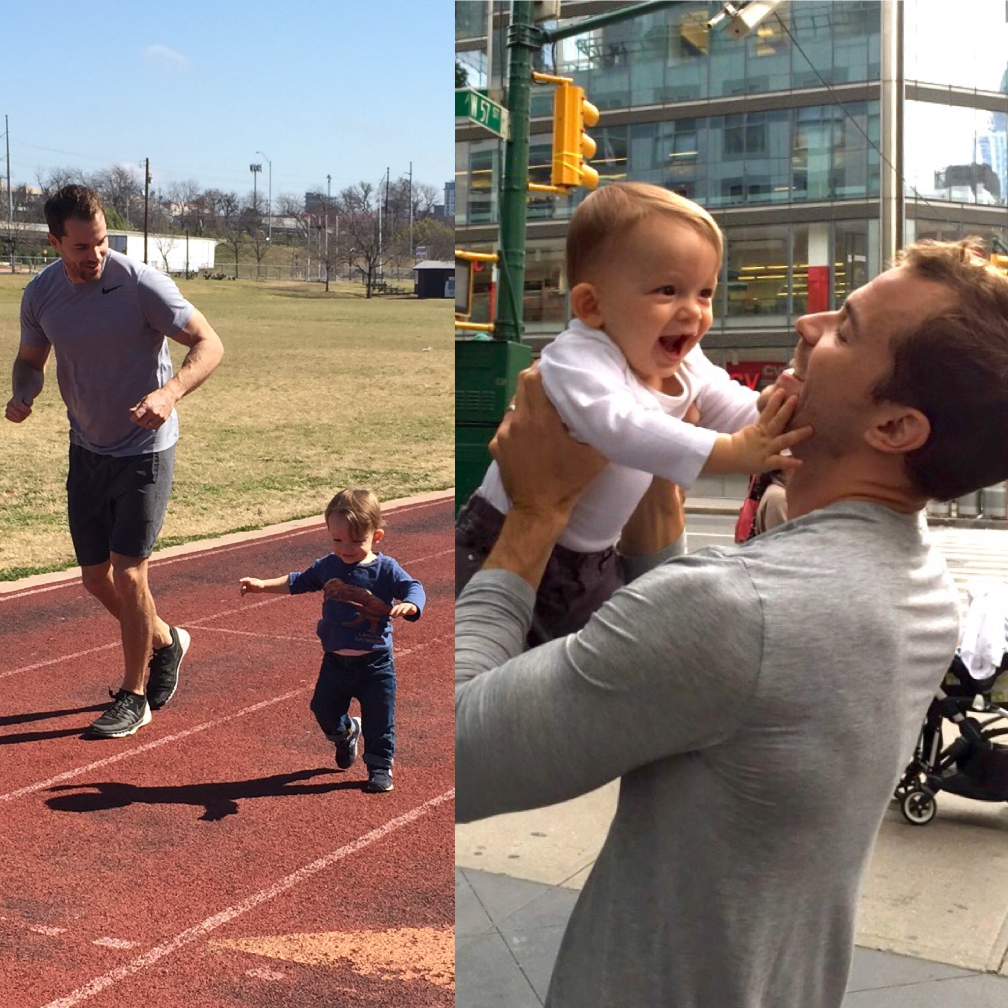 Chris Ryan - Featured Fit Dad for July 2016 - and his son, Achilles