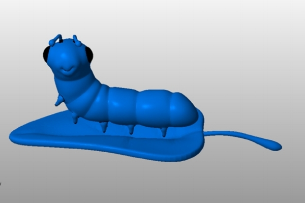 Caterpillar character, 3D model by Atlantica College's students