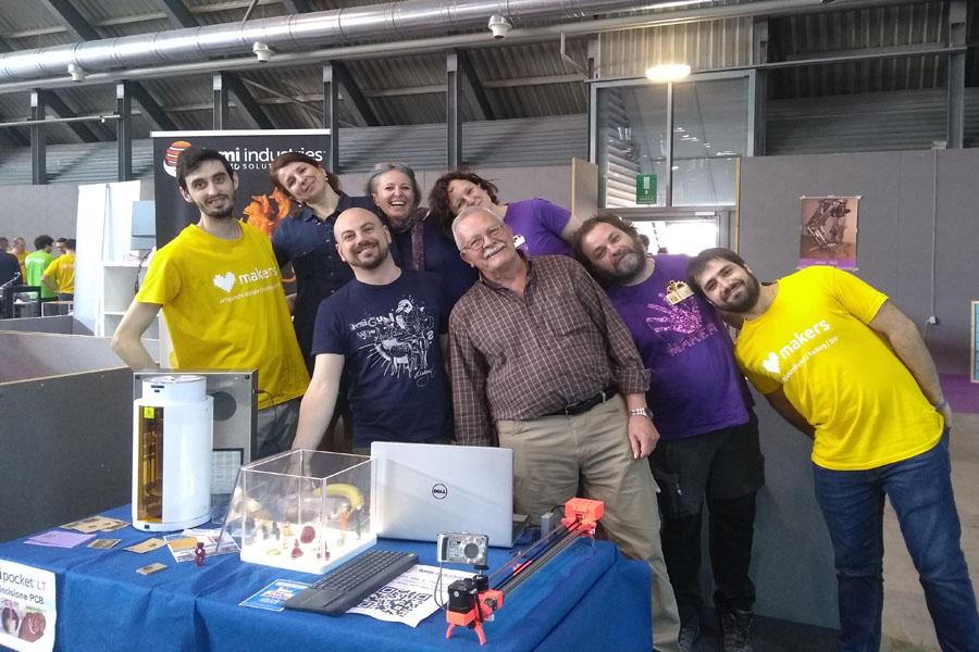 Area Maker,  Radioamatore Fiera Pordenone , 2018 con i nostri amici Maker!