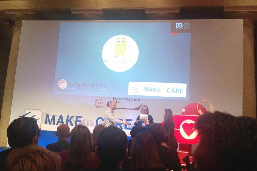 Presentazione del progetto Molbed, finalista al concorso Make to Care, Roma 2016