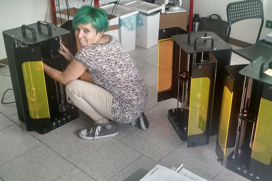 Preparazione di Lumiforge per la consegna presso la nostra seconda sede di Asolo(TV)