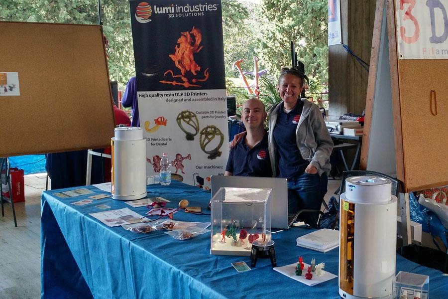 Presentazione del nostro ultimo progetto di crowdfunding Lumipocket LT a Maker Faire Trieste 2017