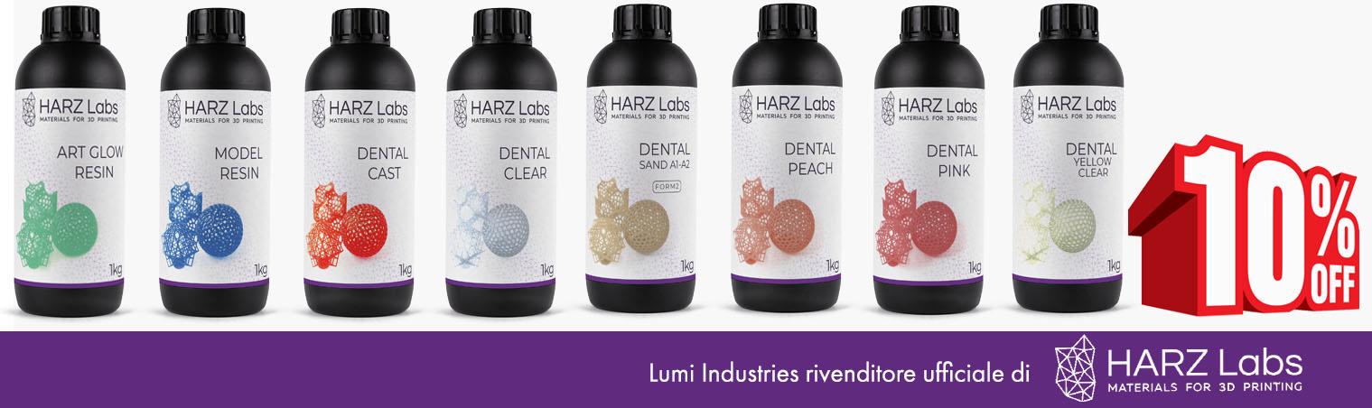 Harz Labs ama l'Italia!    Dal 1° Luglio 10% di sconto su tutte le resine professionali Harz Labs! Acquista ora!