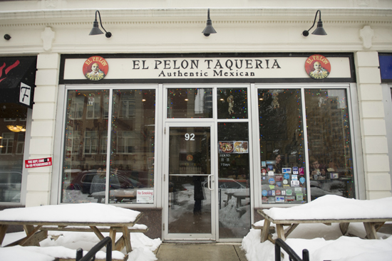 Although indoor seating is limited, patrons can dine al fresco at El Pelon's picnic tables in the warmer months. Photos by Jackie Ricciardi