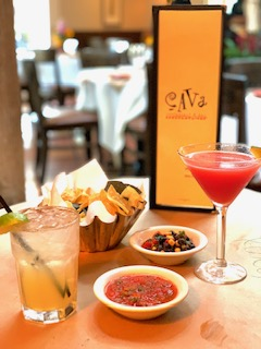 Enjoy handcrafted margaritas and assorted salsas