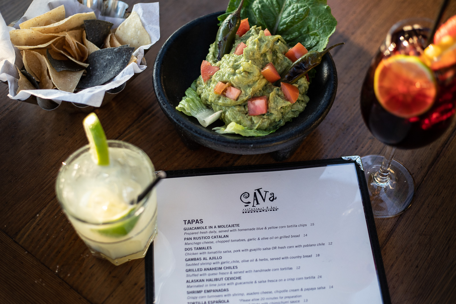 House made Guacamole, Margaritas, and Sangria make for a great happy hour!