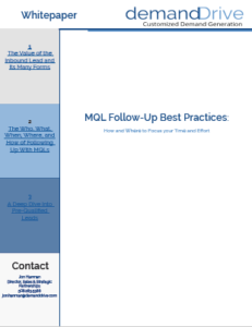 MQL Follow-Up: How and Where to Focus your Time and Effort