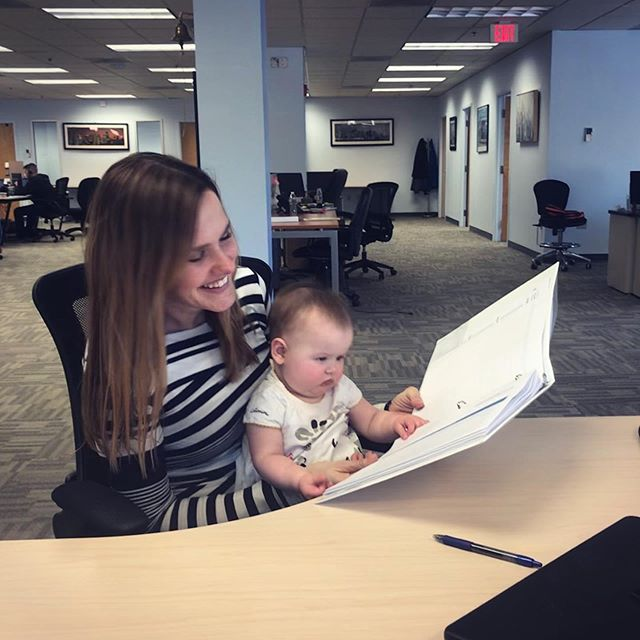 It's an exciting week at #demandDrive as we welcome our newest employe- wait a second that's not right...that's a baby! Turns out our co-founder and president @lindsannefrey was able to bring adorable baby Scarlett into the office for a visit and she took quite a liking to our training binder. I guess the apple doesn't fall far from the tree! #sdr #salesdev #bostonjobs #leadgeneration #baby #training
