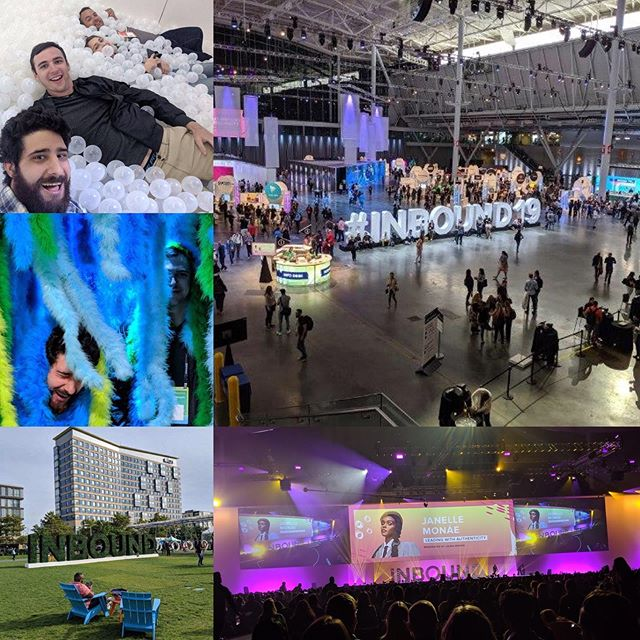Another year, another great time @inbound for demandDrive! We got to hear insightful speakers like @janellemonae, @alexisohanian, and Sal Khan, founder of @khanacademy! Huge shoutout to all the folks @hubspot and BCEC who worked hard to host such a great event! #inbound19 #marketing #bostonevents #events