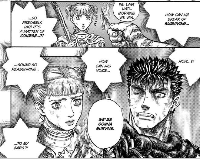 Farnese is inspired by Guts—from Episode 171