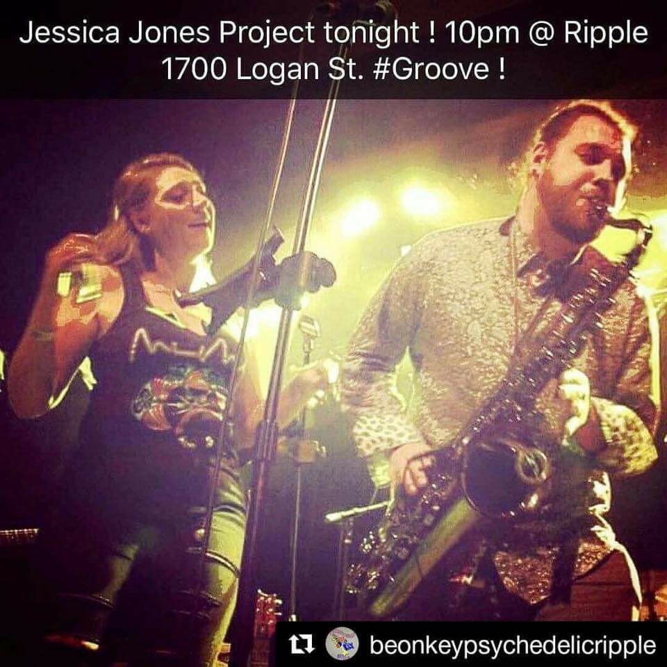 """Give it to Me Baby"" Jessica Jones Project at Be On Key Psychedelic Ripple 4.21.17"