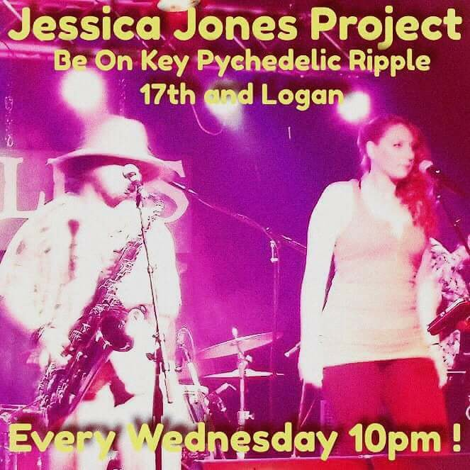 """Red Hot Mama"" Jessica Jones Project at Be On Key Psychedelic Ripple 2.9.17"