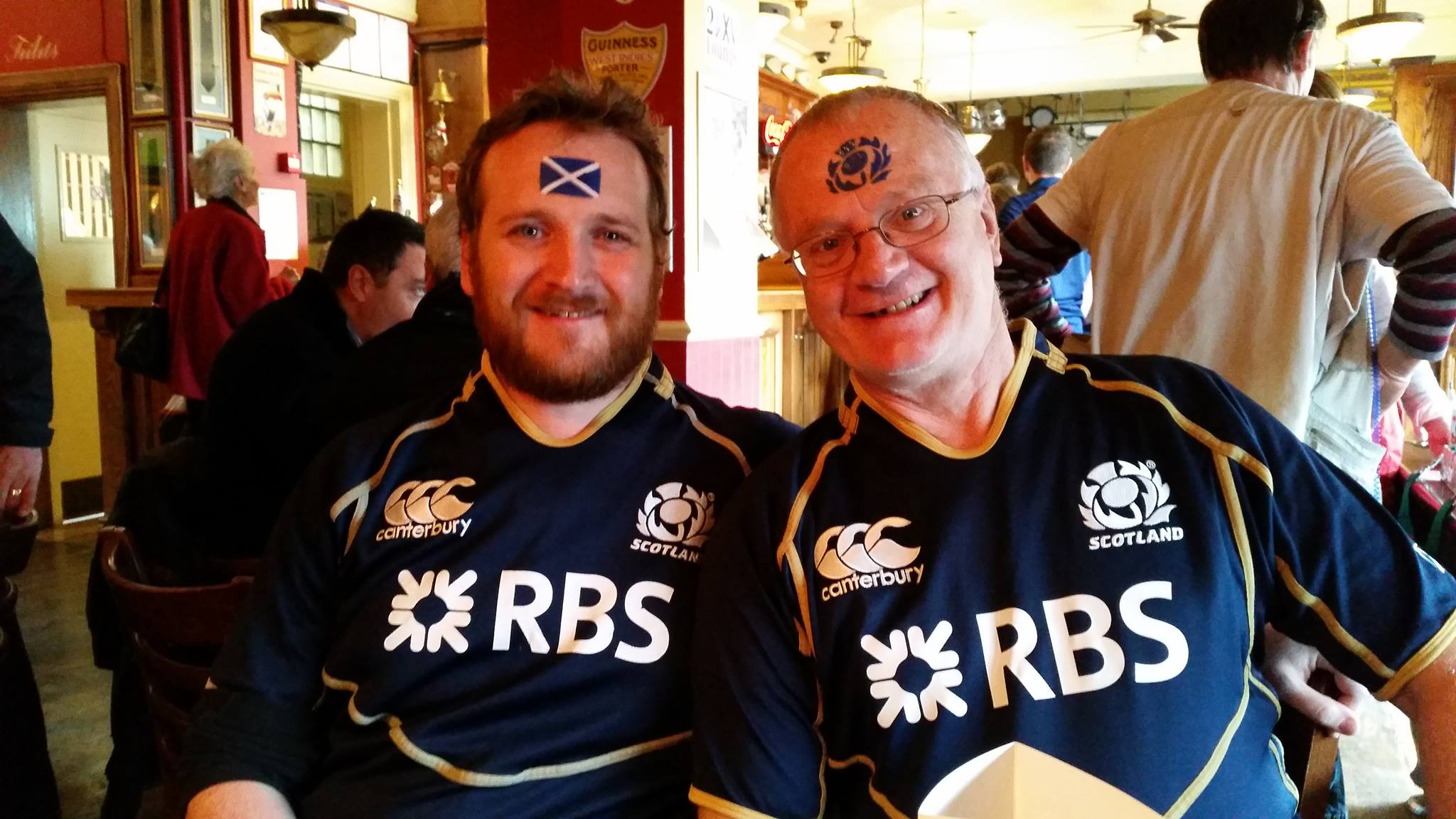 Ash and Russ. Scotland won.
