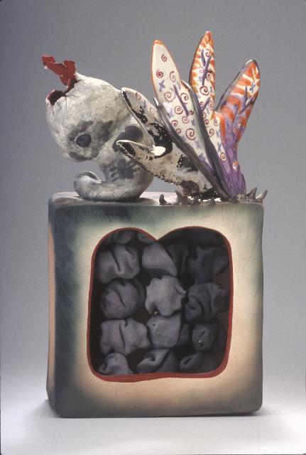 """Fetus Phoenix 1984 earthenware 18 x 9 x 4"""""""