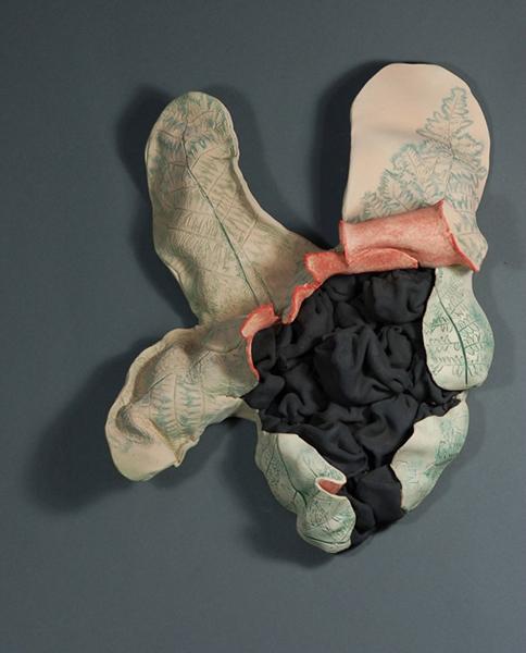 """Fernurture #3 stoneware 2011  16 x 16 x 5"""""""