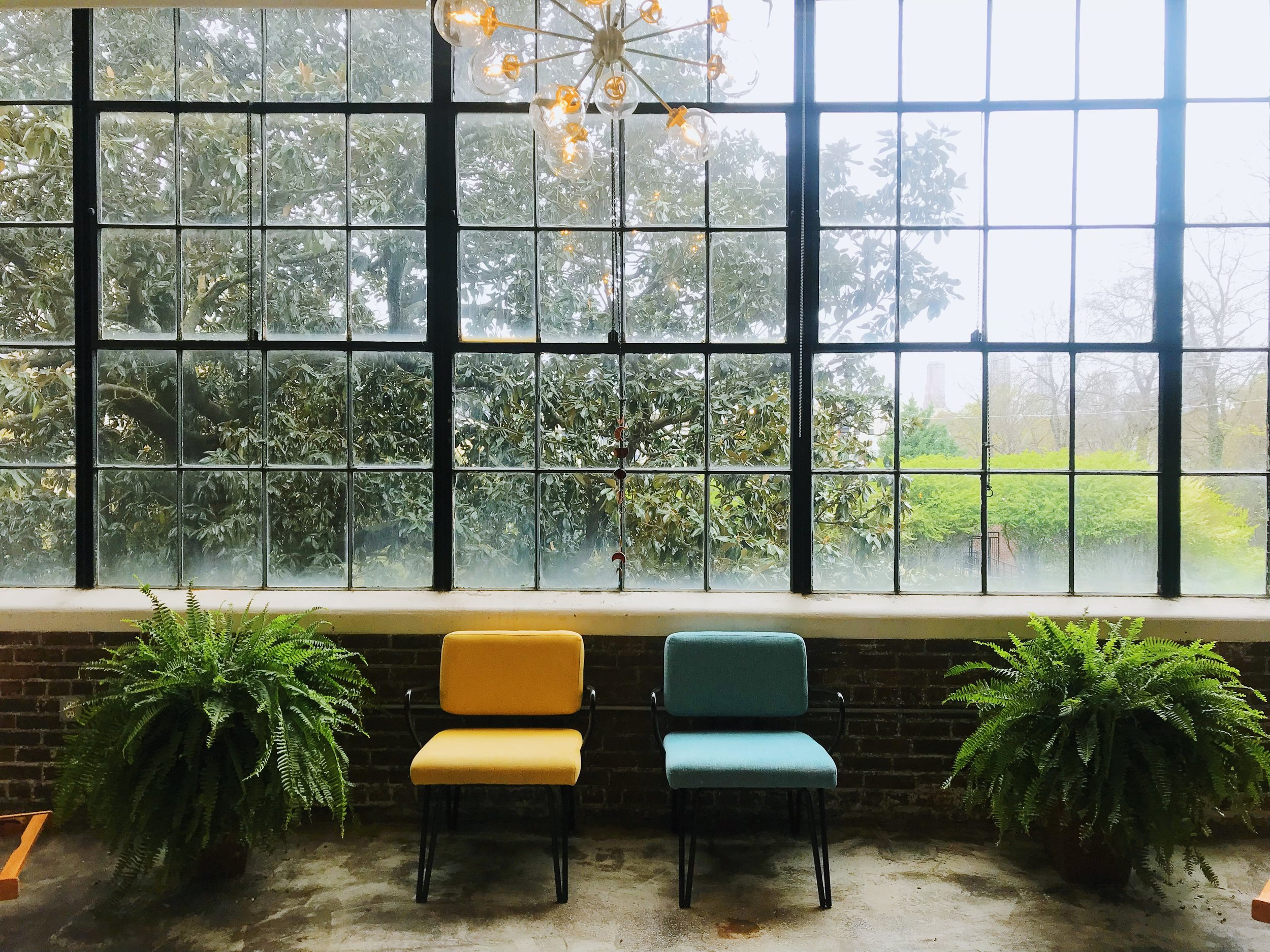 Calm, Relaxed Space - The scenic view through the wall of windows is one with majestic Southern Magnolias overlooking the Beltline, that creates a relaxing atmosphere, in which one can just breathe and let go of the stresses of the day. There will be individuals treated alongside of you in a quiet, respectful spa-like environment.