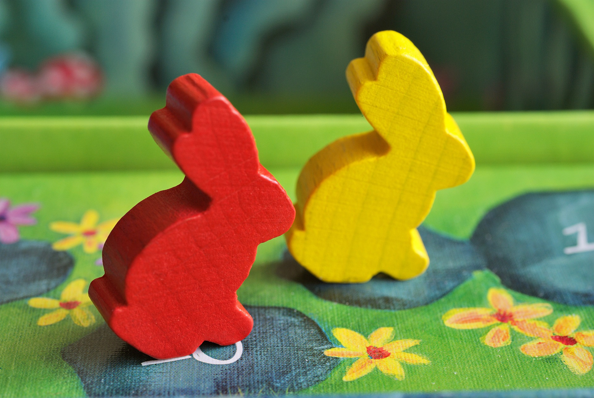 bunny meeples from a board game