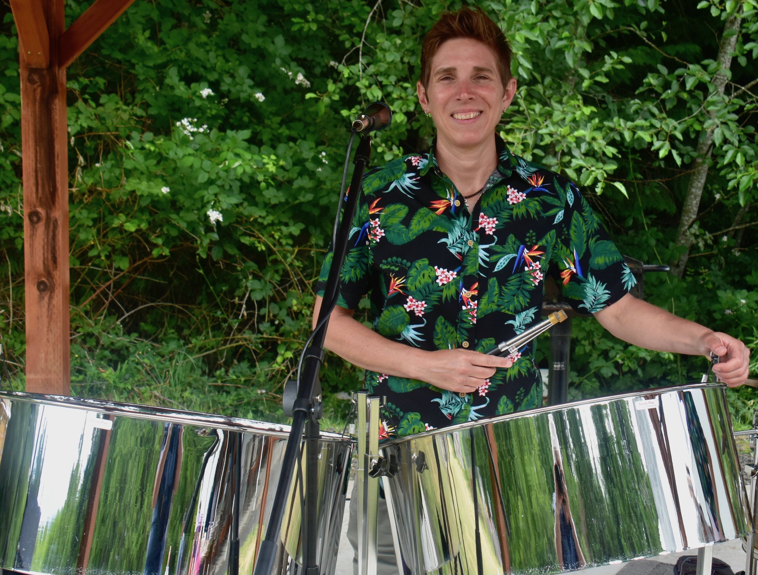 Angie Tabor - steel pans, vocals